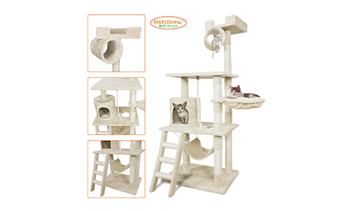 PARTYSAVING PET PALACE Cat Tree Kitten Activity Tower