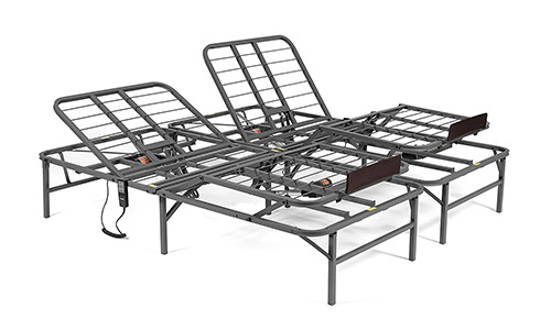 Pragma Bed Pragmatic Adjustable Bed Frame, Head, and Foot, King, Gray