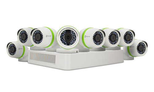 EZVIZ FULL HD 1080p Outdoor Surveillance System, 8 Weatherproof HD Security Cameras,