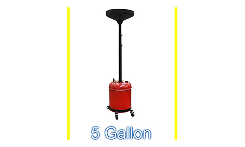 Portable Waste Oil Drain Change Tank Rolling Dolly Adjustable Lift Funnel - House Deals