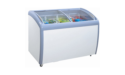 Atosa MMF9109 Angle Curved Top Chest Freezer 9 Cubic Feet.