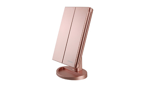 DeWEISN Tri-Fold Lighted Makeup Mirror