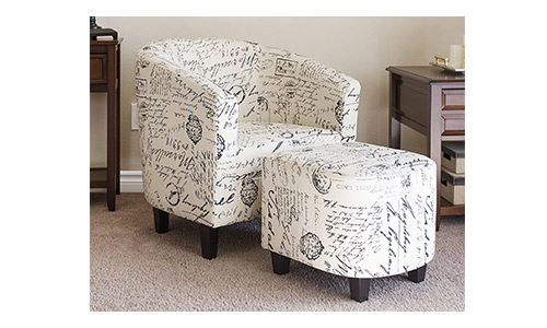 Best Choice Products Upholstered Barrel Accent Chair