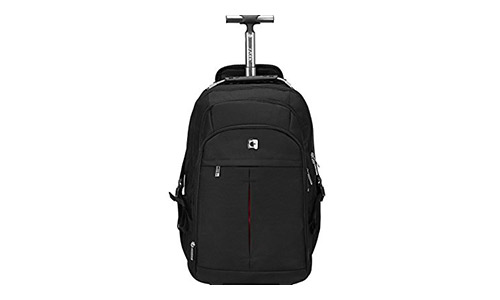 S-ZONE Wheeled Backpack Rolling Carry-on Luggage Travel Duffle Bag
