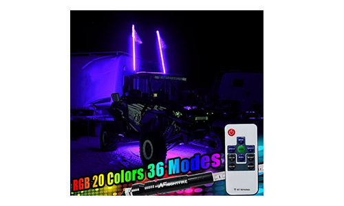 Willpower LED RGB Rock Light Kits With Cell Phone APP Bluetooth Control With 4 Pods Under Glow LED Neon Light kit for Jeep Off-Road Trucks Car ATV SUV Boat for Timing & Music Mode (4 Pods)
