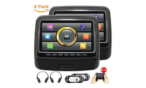 AUTOWINGS Touchscreen Headrest DVD Player
