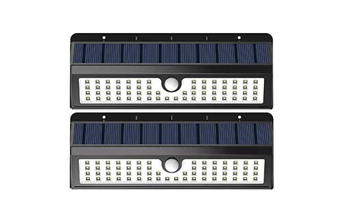 Lemontec 62 LED Wall Solar Light Outdoor Security Lighting
