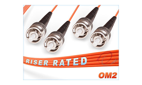 OM2 ST ST Duplex Fiber Patch Cable 50/125 Multimode - 300 Meter