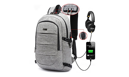 #AMBOR Business Polyester Laptop Backpack