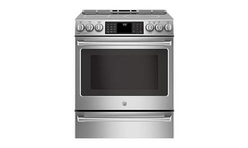 GE Cafe CHS985SELSS 30 Inch Slide-in Electric Range with Smoothtop Cooktop