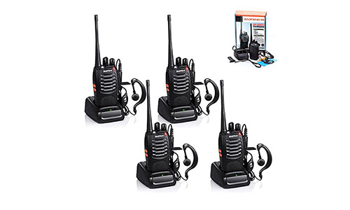 4pcs Baofeng Walkie Talkie