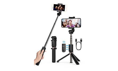 Yoozon Selfie Stick Bluetooth, Extendable Selfie Stick with Wireless Remote and Tripod