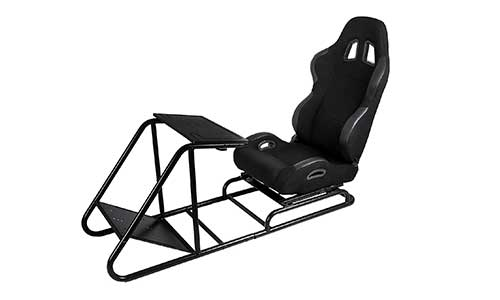 BestEquip Racing Seats Adjustable Racing Simulator Cockpit Driving Gaming Reclinable Seat with Gear Shifter Mount for PS4 PS3 Xbox