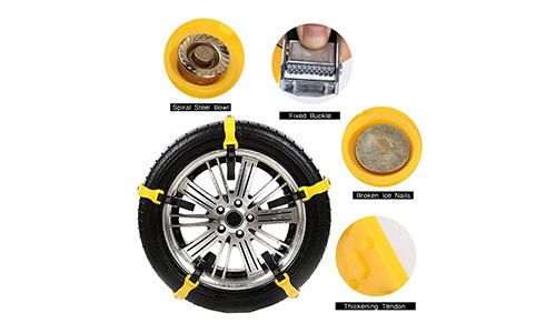 Snow Chains Emergency Tire chains Tire Chains Adjustable Snow Cable Chains