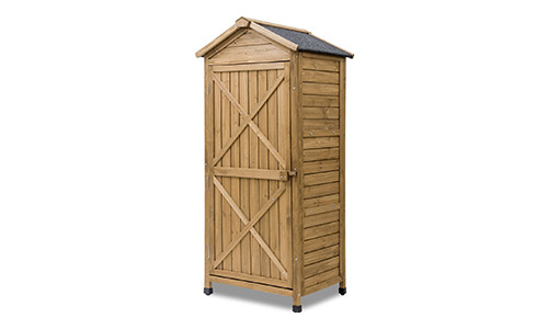 Leisure Zone Outdoor Wooden Garden Shed Lockers Fir wood with Workstation