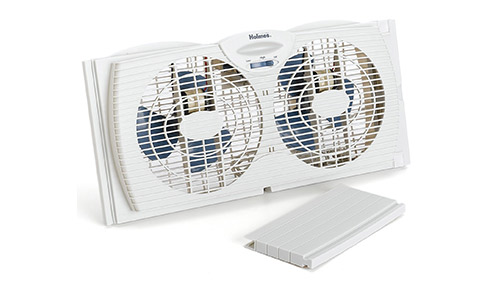 White Dual Blade Twin Window Fan from Homes