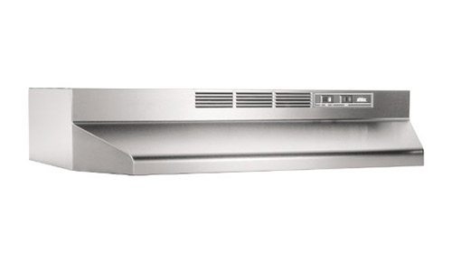 Broan presents 30-Inch Capable Non-Ducted Under-Cabinet Range Hood, White (413001 ADA)