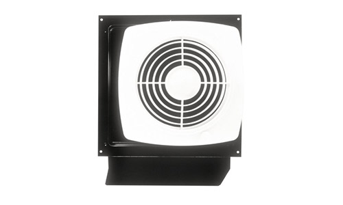 Broan presents 8-Inch Wall Fan with Integral Rotary Switch, 180 CFM 6.5 Sones (509S)