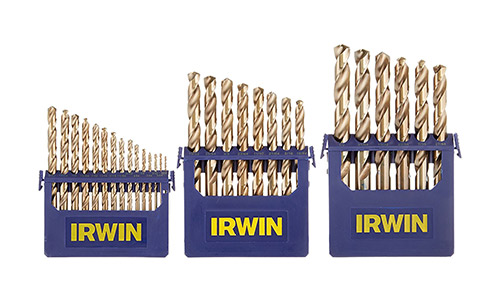 Irwin Tools Cobalt Metal Index Drill Bit Set