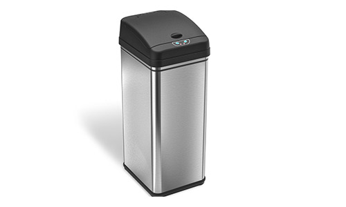 iTouchless (13 Gallon) Stainless Steel Trash Can (Automatic)