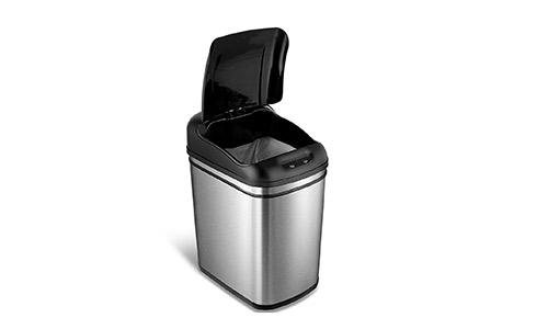 NINESTARS DZT-24-1 (6.3 Gallon) Stainless Steel Trash Can