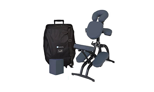 EARTHLITE Avila II Portable Massage Chair Package – The Most Adjustable Tattoo Spa Massage Chair incl. Carry Case with Wheels