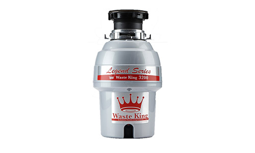 Waste King Legend Series 3/4 HP Continuous Feed Garbage Disposal with Power Cord - (L-3200