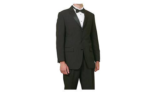 New Mens 5 Pc Complete Black Tuxedo Suit Jacket Pants Shirt Cummerbund Bow Tie
