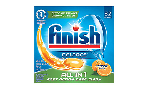 Finish All in 1 Gelpacs Dishwasher Detergent Tablets
