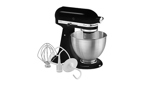 KitchenAid K45SSOB 4.5-Quart Classic Series Stand Mixer, Onyx Black