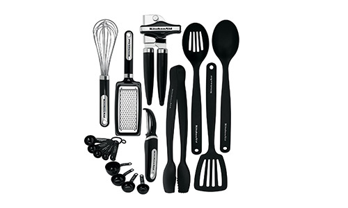 KitchenAid presents 17-Piece Tools and Gadget Set, Black