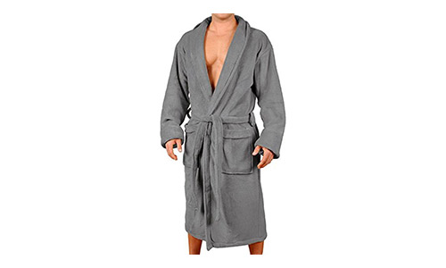 Wanted Men's Lounge Bathrobe