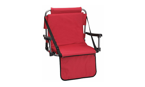 Red Stadium Cushion with Armrests