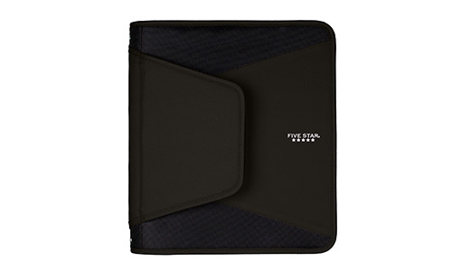 Five Star presents Durable Zipper Binder, Black (72204)