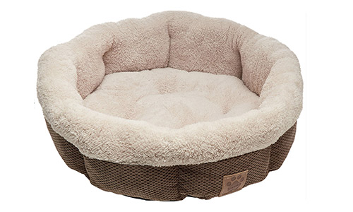 Precision Pet (Shearling) Heated Round Bed