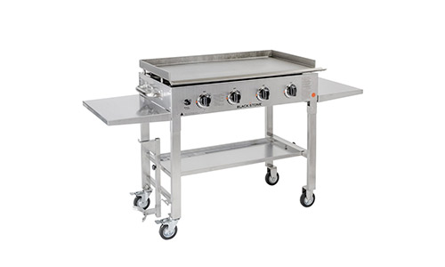Blackstone presents stainless steel outdoor gas griddle station 36""