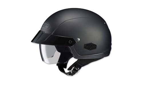 HJC Unisex Adult is-Cruiser Matte Black Half Helmet 0824-0135-03
