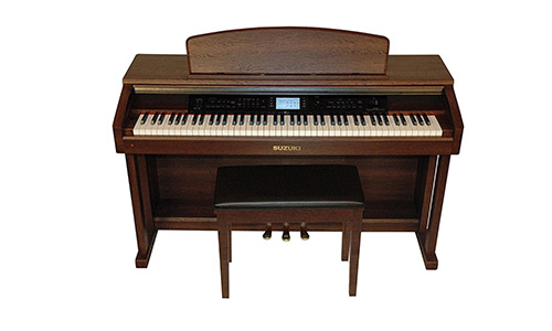 Suzuki Musical Instrument Corporation CTP-88 88-Key Classroom Teaching Piano with Matching Bench, Brown Wood Grain Finish