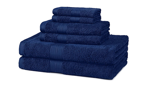 AmazonBasics Cotton Towel Set (Fade-Resistant)