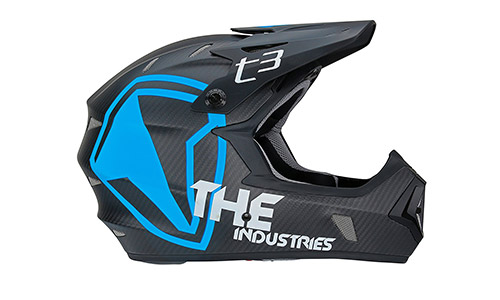 THE Industries Adult Carbon Shield BMX and Mountain Bike Helmet
