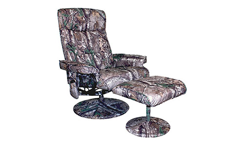 Relaxzen Leisure Recliner Chair with 8-Motor Massage & Heat, Camouflage