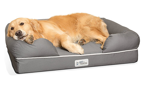 PetFusion Ultimate Premium Edition Dog Lounge with Solid Memory Foam