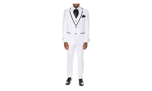 Ferrecci Mens Premium 2pc & 3pc Ultra Comfort Slim Fit Imported Tuxedos
