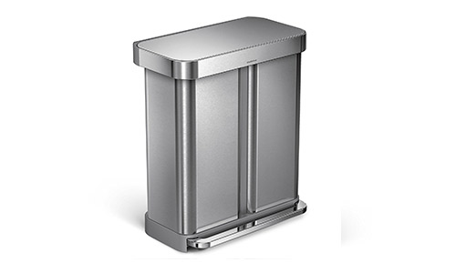simplehuman (15.3 Gallon) Stainless Steel Kitchen Trash Can