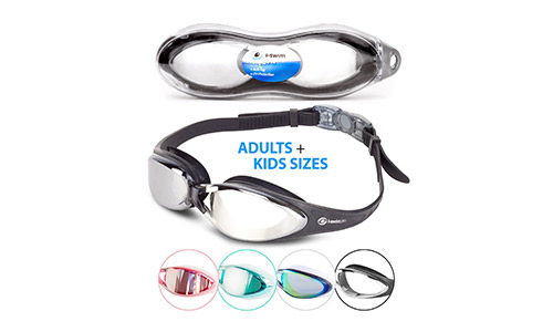 i SWIM PRO Swimming Goggles – No Leaking, Anti-Fog, UV Protection, Crystal Clear Goggles