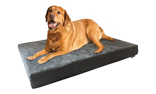 Dogbed4less Orthopedic Cooling Gel Memory Foam Durable Dog Bed