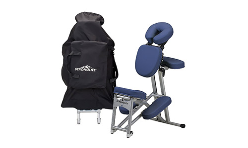 STRONGLITE Ergo Pro II Portable Massage Chair Package - Lightweight, Foldable Tattoo Spa Massage Chair with wheels