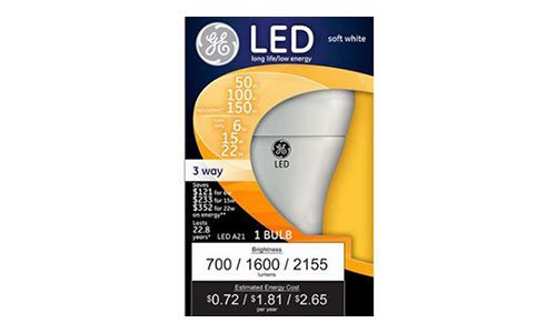 GE Lighting (92119) (3-WAY LED) BULB