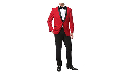 Ferrecci Zonettie Mens' Luxury 2pc Slim Fit Shawl Tuxedo - Many Colors