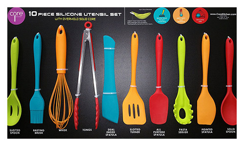 Core Kitchen presents Silicone Utensil Set (10-Piece)